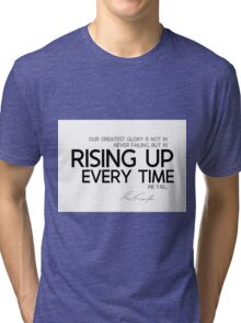 rising up every time - emerson Tri-blend T-Shirt