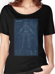 Orianna Robotic Blueprint Women's Relaxed Fit T-Shirt