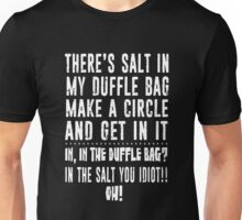 In the duffle bag? Ghostfacers (white version) Unisex T-Shirt