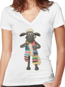 Shaun Color Women's Fitted V-Neck T-Shirt