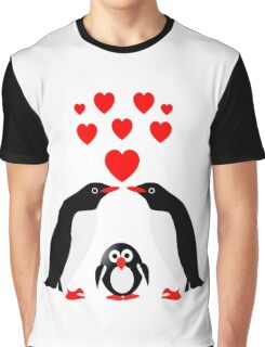 Penguins family Graphic T-Shirt
