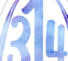 314 St. Louis Skyline Sticker