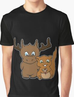 Moose and squirrel Graphic T-Shirt