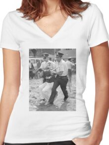 Bernie Arrest Women's Fitted V-Neck T-Shirt