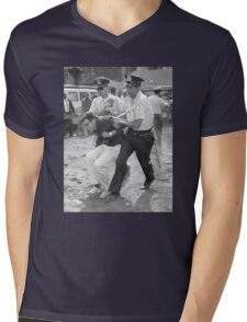 Bernie Arrest Mens V-Neck T-Shirt