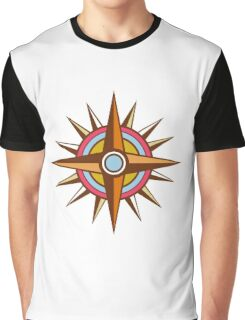 Vintage Compass Star Isolated Retro Graphic T-Shirt