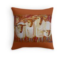 Dirt Road Darlings Throw Pillow