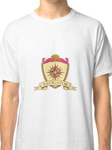 Compass Navigator Coat of Arms Crest Retro Classic T-Shirt