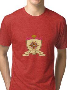Compass Navigator Coat of Arms Crest Retro Tri-blend T-Shirt