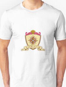 Compass Navigator Coat of Arms Crest Retro T-Shirt