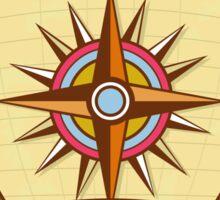 Compass Navigator Coat of Arms Crest Retro Sticker