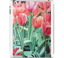 Red tulips sketch iPad Case/Skin