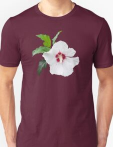 White flower blossom isolated Unisex T-Shirt