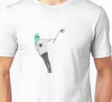 Girl with dandelion. Unisex T-Shirt