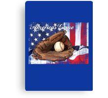 americas game baseball Canvas Print