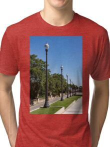 The Marching Streetlights Parade - a Perspective Study in Barcelona  Tri-blend T-Shirt