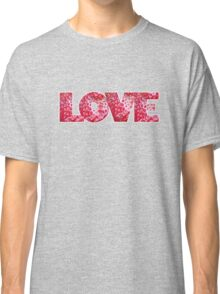 Valentines Strawberry LOVE text Classic T-Shirt