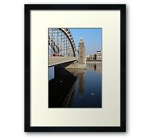 old bridge with beacon towers Framed Print