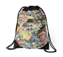CS:GO Sticker Spam Drawstring Bag