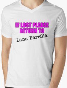 If lost please return to Lana Parrilla Mens V-Neck T-Shirt