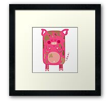 Tiny dirty pink pig Framed Print