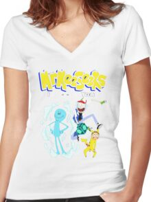 Mr Meeseeks Women's Fitted V-Neck T-Shirt