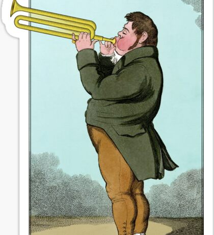 The Paradoxical Trumpeter Sticker