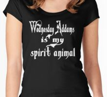 Wednesday Addams Is My Spirit Animal Women's Fitted Scoop T-Shirt