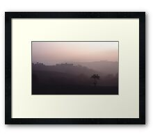 Comfortably alone Framed Print