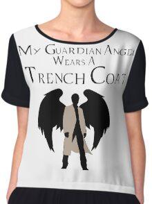 Guardian Angel (Black) Chiffon Top