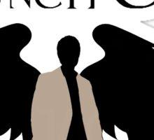 Guardian Angel (Black) Sticker
