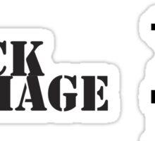 Black mage sprite Sticker