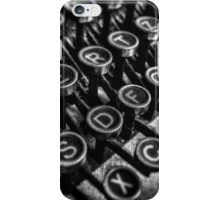 Old vintage typewriter iPhone Case/Skin