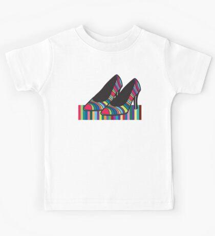 Rainbow shoes Kids Tee