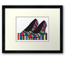 Rainbow shoes Framed Print