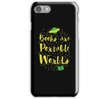 Books are portable worlds iPhone Case/Skin