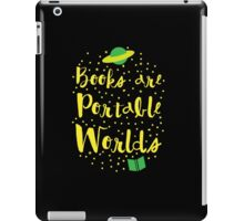 Books are portable worlds iPad Case/Skin