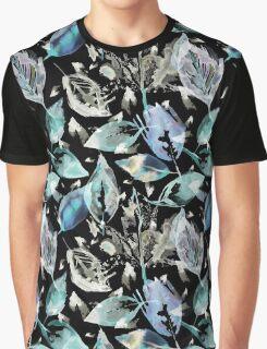 Blue autumn leaves  Graphic T-Shirt