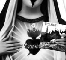 Black Metal Mary Sticker