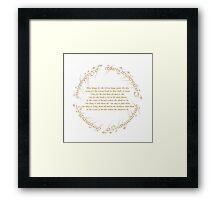 The Rings Framed Print