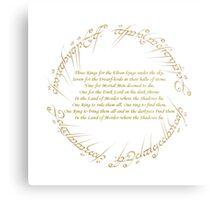 The Rings Metal Print