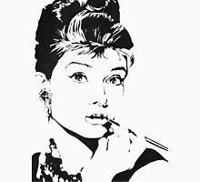 Black and White Audrey Hepburn Unisex T-Shirt
