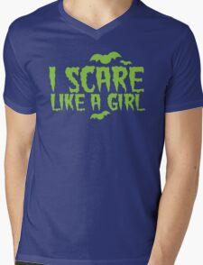 I SCARE LIKE A GIRL Mens V-Neck T-Shirt