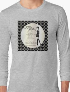 Gatsby Girl Recipe To Be A 1920s Flapper Girl (in black silver & pearl) Long Sleeve T-Shirt
