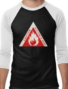 CAUTION - GETS KIND OF WARM Men's Baseball ¾ T-Shirt