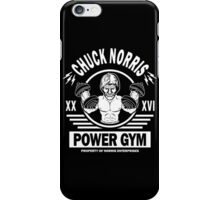Chuck Norris Power Gym iPhone Case/Skin