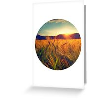 Sunset over a field Greeting Card