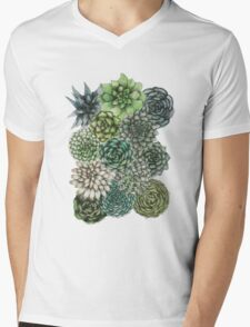An Assortment of Succulents Mens V-Neck T-Shirt