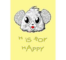 H is for Happy T-shirt, etc. design Photographic Print