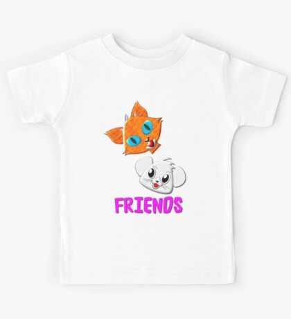 Pussy Cat and Mouse FRIENDS hardcover journal, etc. design Kids Tee